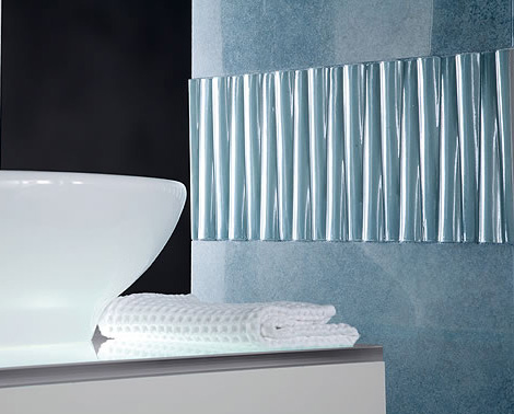 novabell porcelain tiles shine decorative insert Bathroom Contemporary Tiles by Novabell   Shine tile series