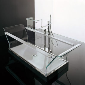 Ultra Modern Bathtub from Novellini – new Cristalli glass tub