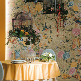 Ceramic Tiles Imitating Wallpaper by Novoceram – Florilege