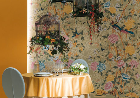 novoceram tiles florilege 3 Ceramic Tiles Imitating Wallpaper by Novoceram – Florilege
