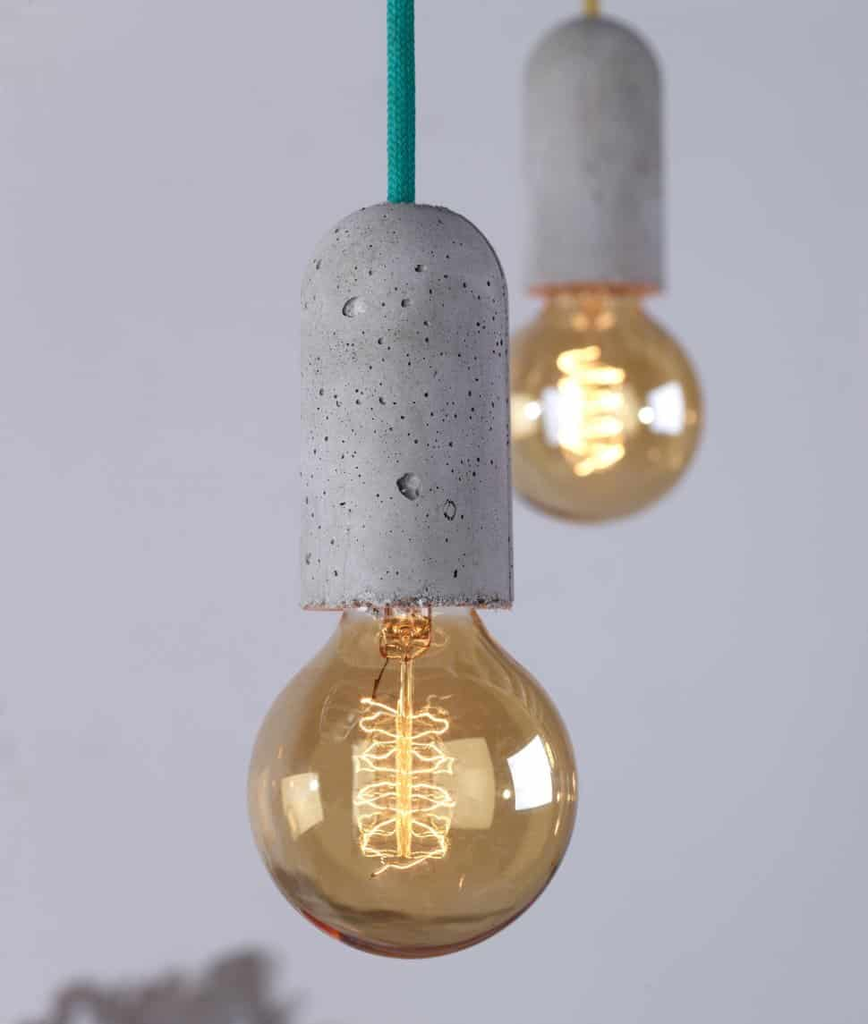 Concrete socket lights by nud aloadofball