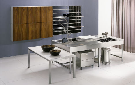 nyloft xera dry wet kitchen thumb Stainless Steel Kitchens from NYLOFT   New XERA Kitchen Line