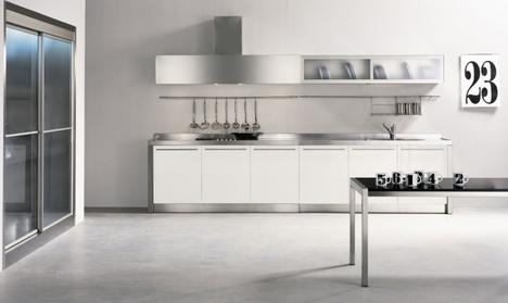 nyloft xera noon kitchen2 thumb Stainless Steel Kitchens from NYLOFT   New XERA Kitchen Line