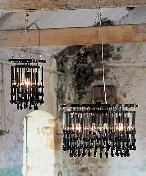 ochre light drizzle chandelier black Contemporary Chandeliers by Ochre   glamour Light Drizzle Chandelier