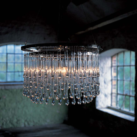 ochre light drizzle chandelier Contemporary Chandeliers by Ochre   glamour Light Drizzle Chandelier