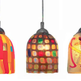 Large Pendant by Oggetti – Luce modern Italian pendant lighting – colorful, cool and elegant