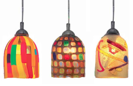 oggetti fantasia belle pendant Large Pendant by Oggetti   Luce modern Italian pendant lighting   colorful, cool and elegant