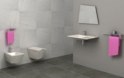 Ultra Modern Bathroom From Olympia Crystal Shines With Individual - Ultra-modern-bathroom