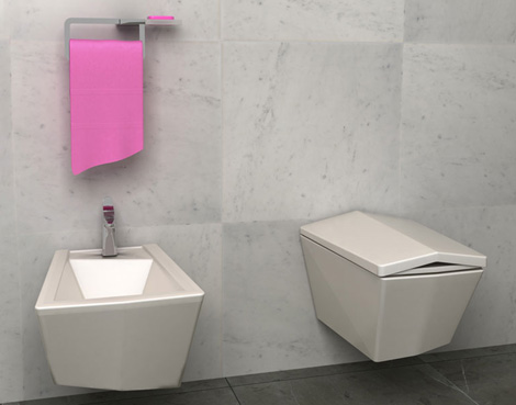 olympia bathroom crystal 2 Ultra Modern Bathroom from Olympia   Crystal shines with individual style