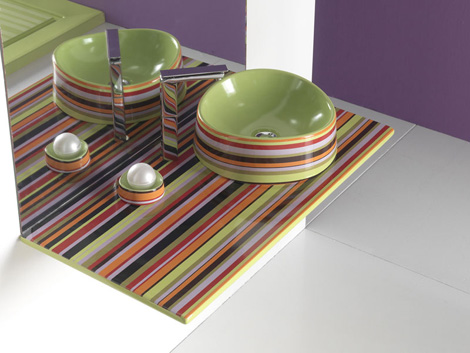 olympia sink texture 2 Colorful Bathroom Designs from Olympia   the terrific Texture range!