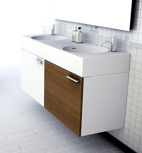 omvivo neo double sink vanity Versatile Bathroom Collection by Omvivo   New Neo