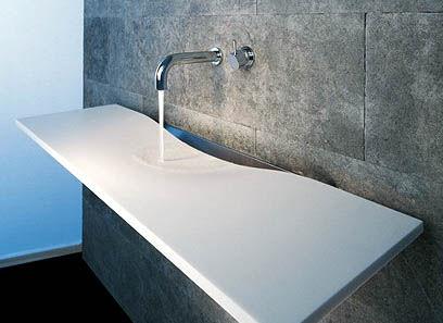 omvivo onda washplane single corian Contemporary Sink from Omvivo   Onda Washplane by Joseph Licciardi