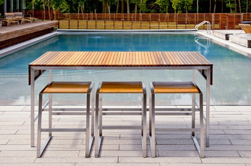 outdoor bar furniture by edwin blue modern contemporary