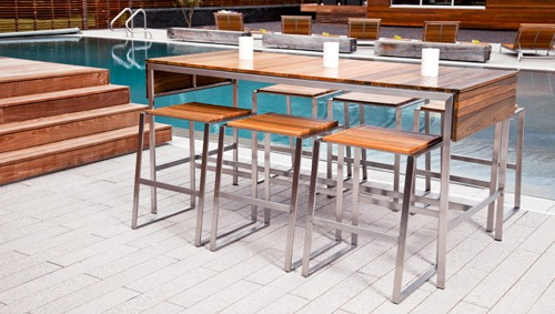 Outdoor Bar Furniture Edwin Blue 2 By Modern Contemporary