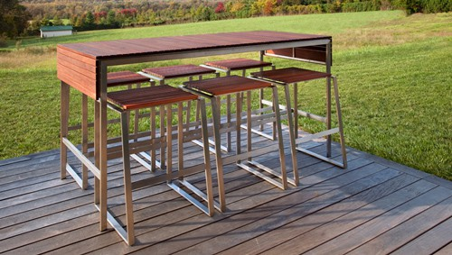Outdoor Bar Furniture Edwin Blue 4