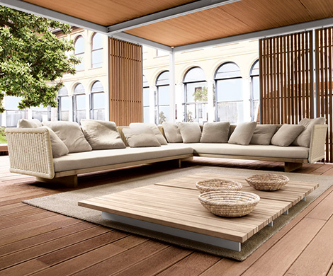 outdoor sectional sofa sabi paola lenti 1 Outdoor Sectional Sofa   Sabi by Paola Lenti