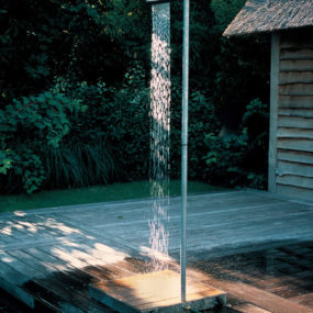 Minimalist Outdoor Shower by TradeWinds