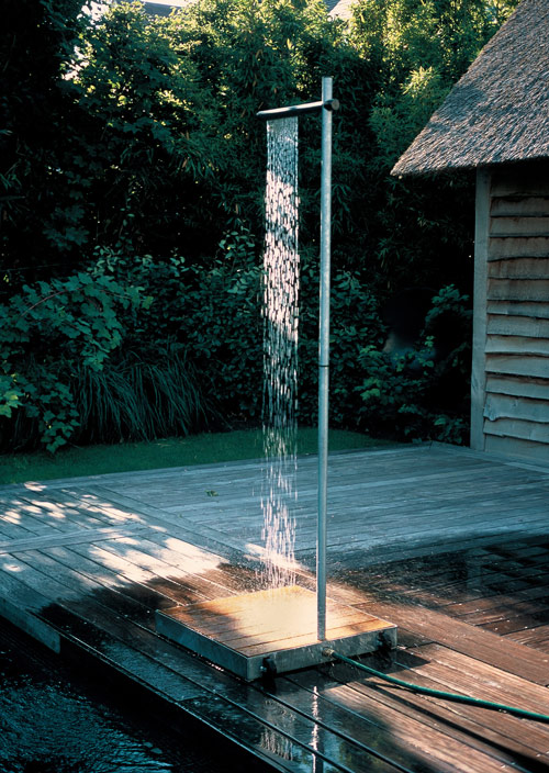 outdoor shower tradewinds cascasde 1 Minimalist Outdoor Shower by TradeWinds