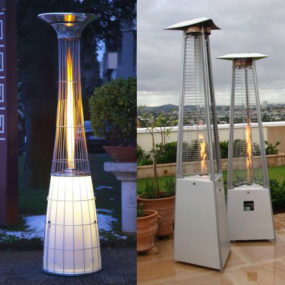 Outdoor Space Gas Heaters by Alpina – Remote Controlled, with Light