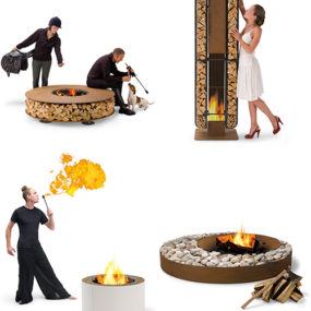 Outdoor Wood Fireplace – cool, contemporary designs by AK47