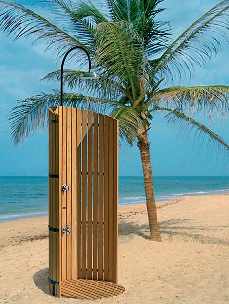 outdoorshazure Outdoor Shower by Dun jardin à lAutre   garden showers Medina & Azure