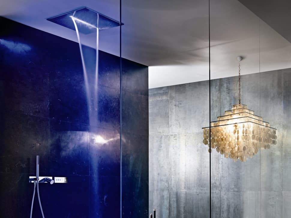 Overhead Chromotherapy Showerhead from Fantini: Acqua Zone