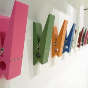 Oversized Clothes Pin Hangers by Swabdesign