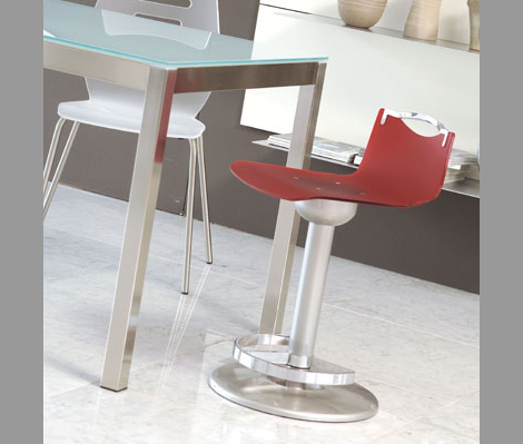 ozzio bar stool chuf1 Metal Bar Stool from Ozzio transforms into a dining chair