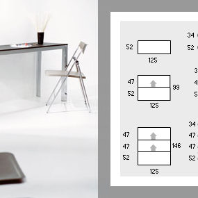 Expandable Console Table – aluminium telescopic frame expands to accommodate 10!