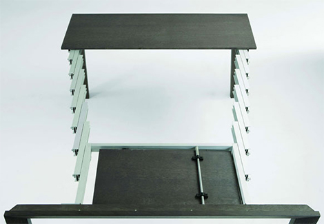 Expandable Console Table Aluminium Telescopic Frame