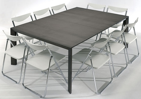 ozzio expandable table 8 Expandable Console Table   aluminium telescopic frame expands to accommodate 10!