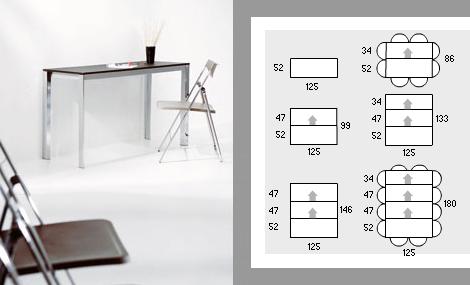 Expandable Console Table U2013 Aluminium Telescopic Frame Expands To  Accommodate 10!