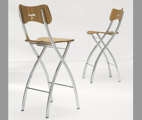 Ozzio Folding Bar Stools1 Jpg