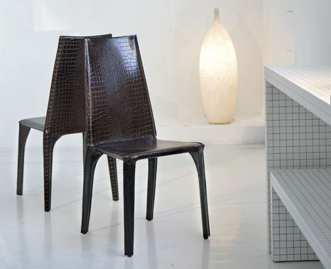 ozzio leather chairs Crocodile Leather Chair from Ozzio   modern leather chairs