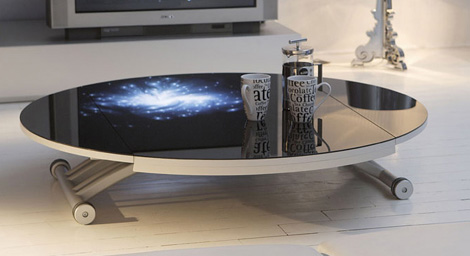 Clever Coffee Table From Ozzio Space Saving Tables
