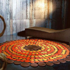 Modern Carpet Designs from Pachamama – leather rugs