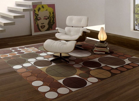Modern Carpet Designs From Pachamama Leather Rugs