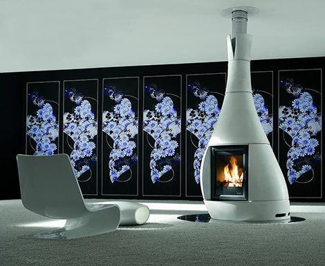palazzetti fireplace alma 2 Modern Fireplace from Palazzetti   2 new modern designs
