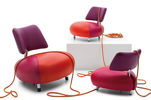 pallone leather armchair leolux 1 Elegant Leather Armchair by Leolux   Pallone