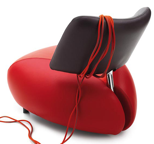 pallone leather armchair leolux 2
