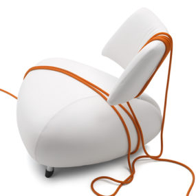 Elegant Leather Armchair by Leolux – Pallone
