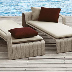 Outdoor Chaise Lounge Frame from Paola Lenti