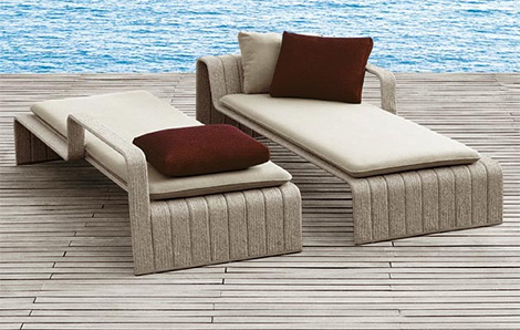 paola lenti chaise lounge frame 2 Outdoor Chaise Lounge Frame from Paola Lenti
