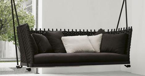Paola Lenti Wabi hanging sofa
