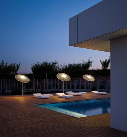 parasol lamp wind vibia 1 Parasol Lamp Illuminates the Outdoors: Wind by Vibia