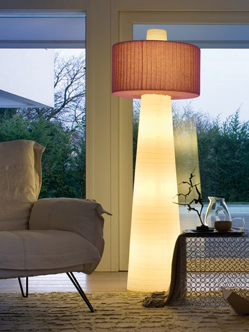 Patio Floor Lamp Lucente By Euroluce