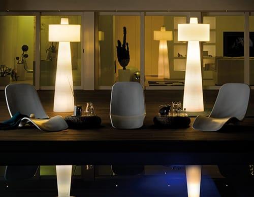 patio floor lamp euroluce lucente 2 Patio Floor Lamp Lucente by Euroluce