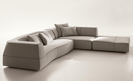 patricia urquiliola bend sofa bb italia 1 Patricia Urquiliola Bend Sofa by B&B Italia   new for 2010