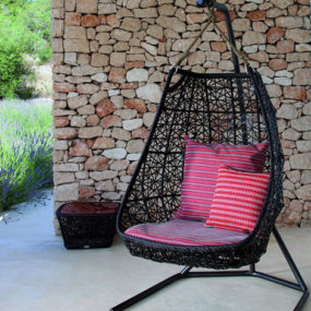 Hanging Swing Chair – patio rattan swing chair by Patricia Urquiola