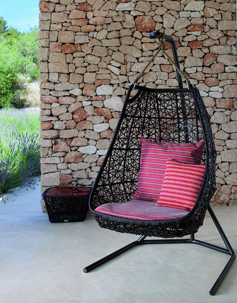 Patricia Urquiola Hanging Swing Chair 1 Patio Rattan By